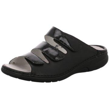 Waldläufer Komfort Pantolette schwarz