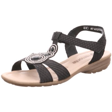 Remonte Komfort Sandale schwarz