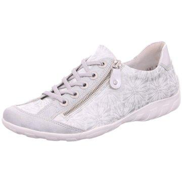 Remonte Komfort Schnürschuh weiß