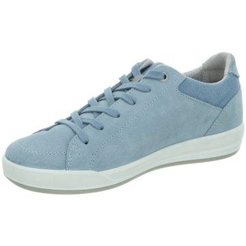LOWA Sportlicher Schnürschuh blau