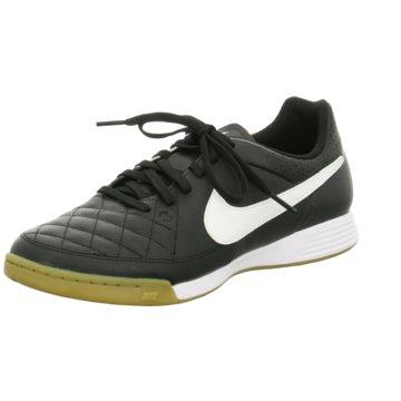 Nike Hallen-SohleTiempo Genio Leather IC schwarz