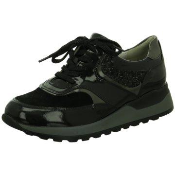 Waldläufer Sportlicher Schnürschuh schwarz