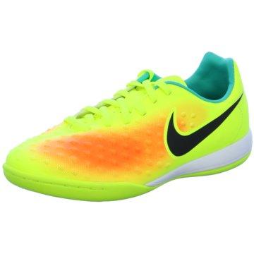 Nike Trainings- und HallenschuhMagista Opus II IC Kinder Fußball Hallenschuhe türkis gelb