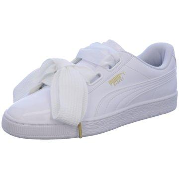 Puma Sneaker LowBasket Heart Patent weiß