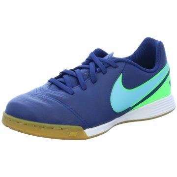 Nike Trainings- und HallenschuhTiempo Legend VI IC Kinder Fußball Hallenschuhe Indoor blau/grün blau