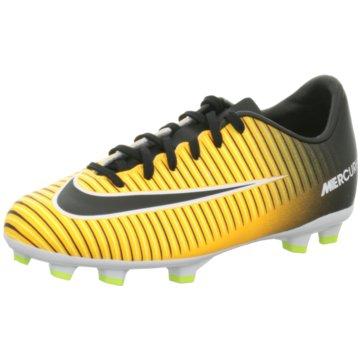Nike FußballschuhMercurial Victory VI FG Kinder Fußballschuhe Nocken orange schwarz gelb