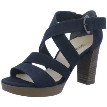 Paul Green Plateau Sandalette blau