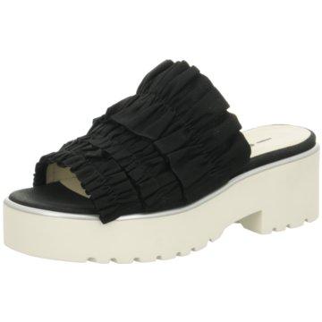 181 Plateau Pantolette schwarz