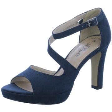 s.Oliver Plateau Sandalette blau