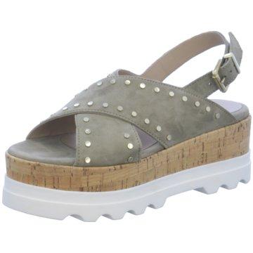 Alpe Woman Shoes Plateau Sandalette grün
