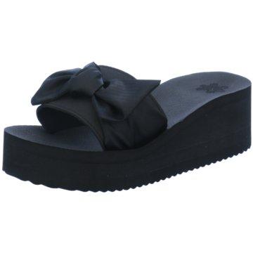 Flip-Flop Plateau Pantolette schwarz