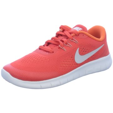 Nike Sneaker LowFree Run GS Kinder Laufschuhe Running orange rot