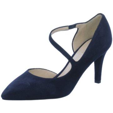 Moda di Fausto Riemchenpumps blau