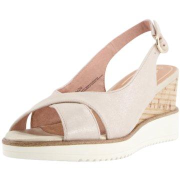 Tamaris Komfort Sandale silber