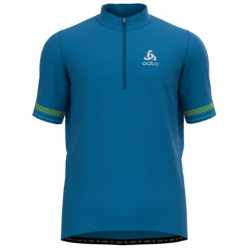 ODLO T-ShirtsSTAND-UP COLLAR S/S 1/2 ZIP ES - 411722 blau