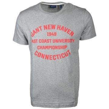 Gant T-Shirts print grau