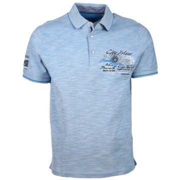 Ragman Poloshirts blau