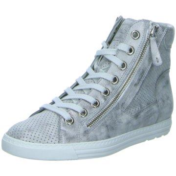 Paul Green Sneaker HighMetallicleder perfor grau