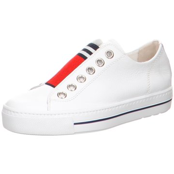 Paul Green Sportlicher Slipper weiß