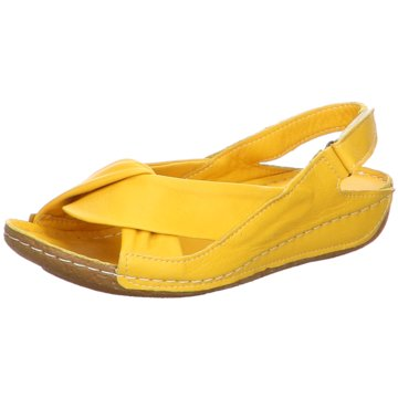 Andrea Conti Komfort Sandale gelb