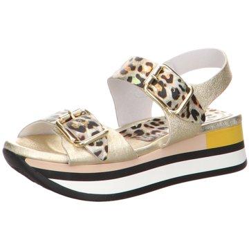 New Italia Shoes Plateau Sandalette beige