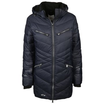 HV Society WintermäntelPadded long jacket  Melville blau