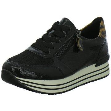 Remonte Komfort Schnürschuh schwarz