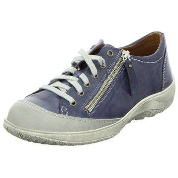 Dessy Komfort Schnürschuh blau