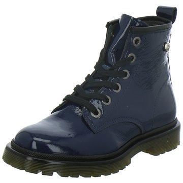 hip shoe style Schnürstiefel blau