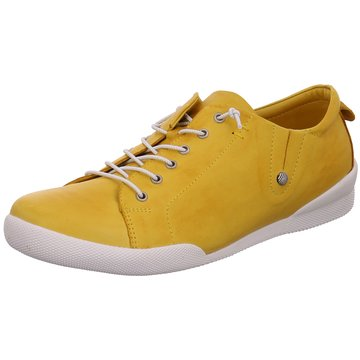 Andrea Conti Sportlicher Schnürschuh gelb