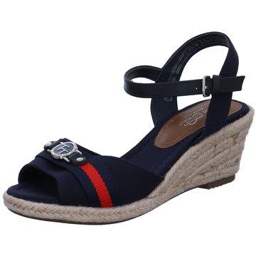 Tom Tailor Espadrilles Sandalen blau
