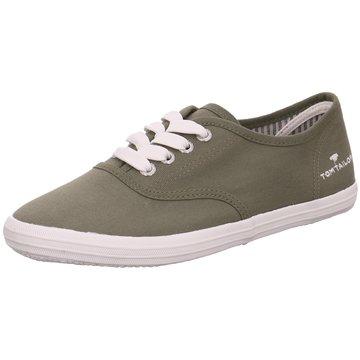 Tom Tailor Sportlicher Schnürschuh grün