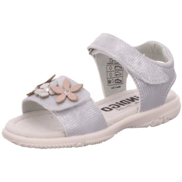 Indigo Sandale silber