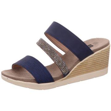 Hengst Footwear Keilpantolette blau