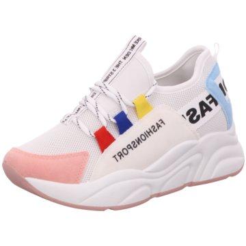 Shoeplanet Plateau Sneaker weiß