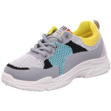 Shoeplanet Plateau Sneaker grau