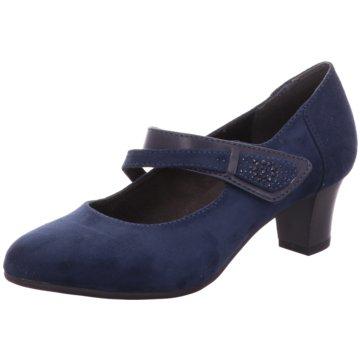 Jana Komfort Pumps blau