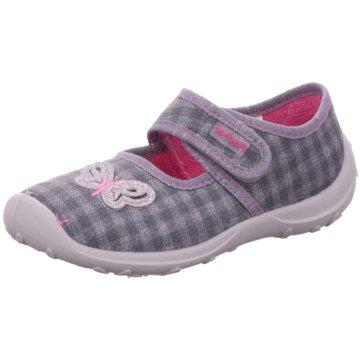 Fischer Schuhe HausschuhSchmetterling grau