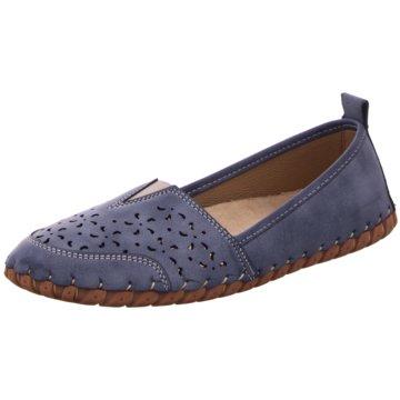 Supremo Klassischer Slipper blau