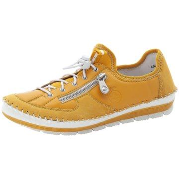 Rieker Komfort Schnürschuh gelb