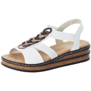 Rieker Komfort Sandale weiß