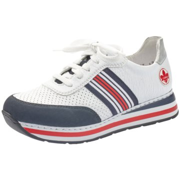 Rieker Sportlicher SchnürschuhSneaker weiß