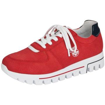 Rieker Plateau SchnürschuheSneaker rot