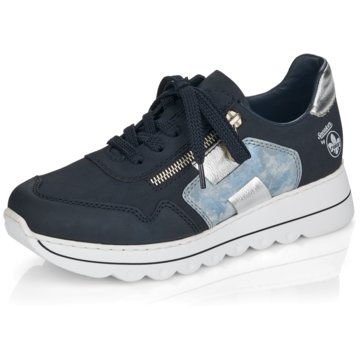 Rieker Sportlicher SchnürschuhSneaker blau