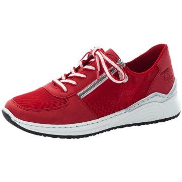 Rieker Sportlicher SchnürschuhSneaker rot