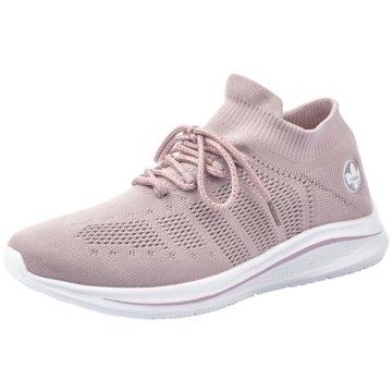 Rieker Sportlicher Schnürschuh rosa