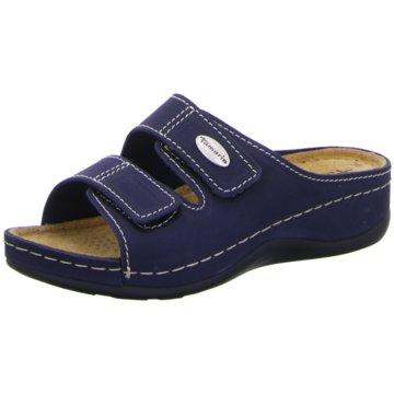 Tamaris Komfort PantoletteSchlupfschuh blau