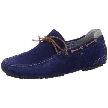 Sioux Mokassin Slipper blau