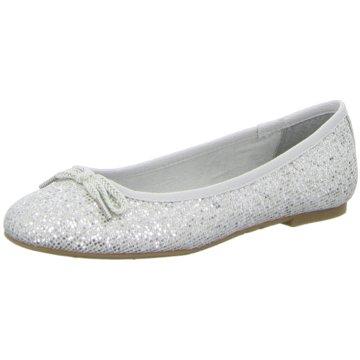 Tamaris Eleganter Ballerina silber