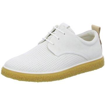 Ecco Sneaker LowCrepe Tray weiß